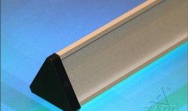SLTRASBL 200x30mm - stříbrný elox/plast víka černá